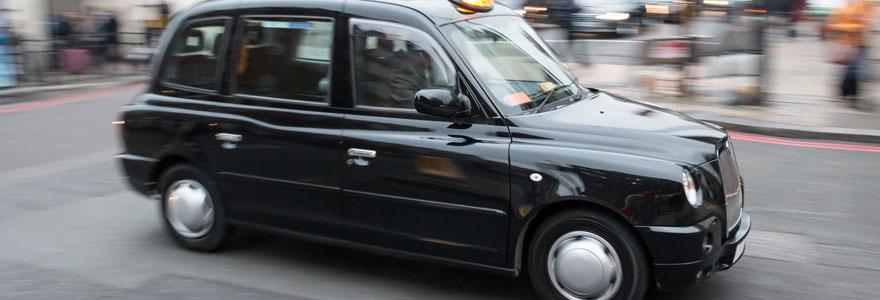 l'oenotourisme à bord d'un taxi anglais